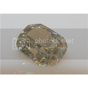 Cushion Cut Loose Diamond (1.21 Ct, NATURAL FANCY GREENISH YELLOW-GRAY  Color ,SI1-SI2 Clarity) GIA Certified