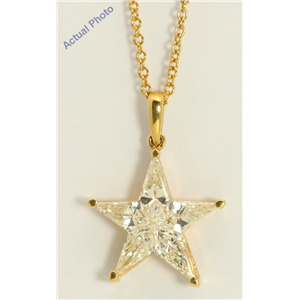 18k Yellow Gold Kite Invisibly Set Modern classic five-pointed star exclusive diamond pendant(0.82ct, J, VVS)