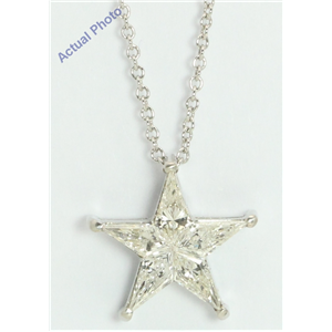 18k White Gold Kite Invisibly Set Modern classic five-pointed star exclusive diamond pendant(0.75ct, G-h, VS)