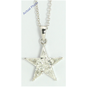 18k White Gold Kite Modern classic five-pointed star exclusive diamond pendant(0.88ct, G, VS-SI)