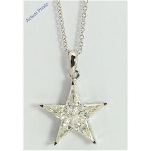 18k White Gold Kite Invisibly Set Modern classic five-pointed star exclusive diamond pendant(1.1ct, H, VVS)