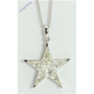 18k White Gold Kite Modern classic five-pointed star exclusive diamond pendant(1.82ct, H-i, VS-SI)