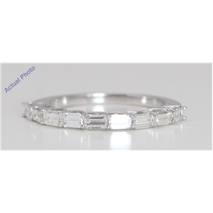 18k White Gold Baguette Modern classic stylish eternity diamond wedding band (1.02 Ct, G Color, VVS Clarity)