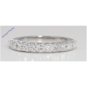 18k White Gold Princess Modern classic stylish eternity diamond wedding band (1.52 Ct, G Color, VVS Clarity)