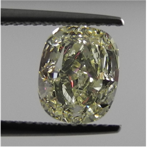 Cushion Cut Loose Diamond (1.85 Ct, Natrual Fancy Yellow ,SI1) IGL Certified