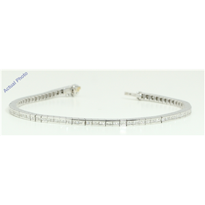 18k White Gold Princess Cut Contemporary chic classic diamond tennis bracelet (1.78 Ct, H Color, VS Clarity)