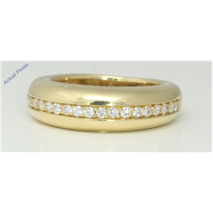 18k Yellow Gold Round Cut Modern classic domed eternity diamond wedding band (0.25 Ct, H Color, VS Clarity)