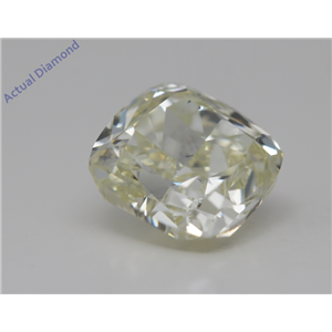 Cushion Cut Loose Diamond (2.17 Ct,Y-z Color,SI2 Clarity) GIA Certified