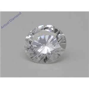 Round Cut Loose Diamond (0.55 Ct,H Color,SI1(Clarity Enhanced) Clarity)