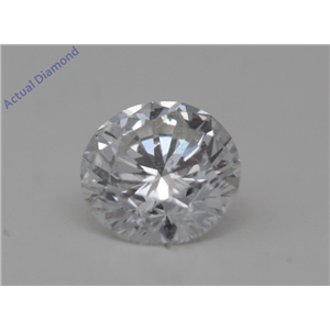 Round Cut Loose Diamond (0.51 Ct,F Color,SI3(Clarity Enhanced) Clarity)