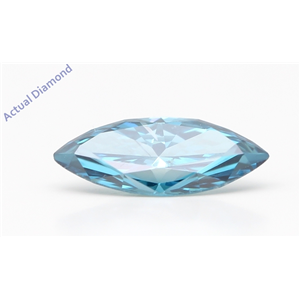 Marquise Cut Loose Diamond (0.98 Ct,Fancy Intense Blue(Color Enhanced) Color,Si1 Clarity) IGL Certified