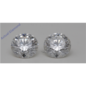A Pair of Round Cut Loose Diamonds (2.45 Ct,G Color,VS2-SI1(Clarity Enhanced) Clarity) IGL Certified