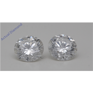 A Pair of Round Cut Loose Diamonds (2.37 Ct,F Color,SI2-SI3(Clarity Enhanced) Clarity) IGL Certified