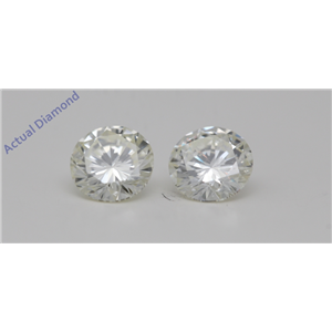 A Pair of Round Cut Loose Diamonds (1.42 Ct,K-j Color,VVS2-VS2(Clarity Enhanced) Clarity) IGL Certified