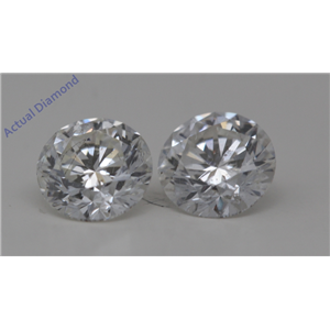 A Pair of Round Cut Loose Diamonds (1.03 Ct,F-g Color,SI2-SI3(Clarity Enhanced) Clarity)