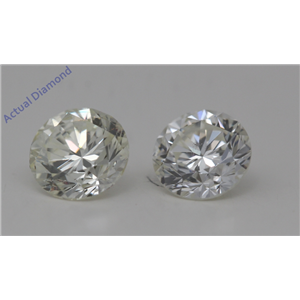 A Pair of Round Cut Loose Diamonds 1.01 Ct,K Color,SI1 Clarity Enhanced Clarity