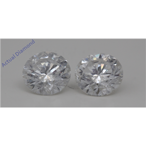 A Pair of Round Loose Diamonds (3.19 Ct,E Color,SI2(Clarity Enhanced,laser Drilled) Clarity) IGL Certified