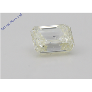 Emerald Cut Loose Diamond (1.01 Ct,Natural Fancy Light Yellow Color,SI1 Clarity) AIG Certified