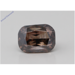 Cushion Cut Loose Diamond (1 Ct,Natural Fancy Dark Brown Color,SI1 Clarity) GIA Certified