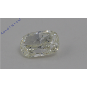 Cushion Cut Loose Diamond (0.9 Ct,Natural Fancy Light Yellow Color,VS2 Clarity) AIG Certified