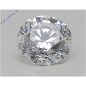 Round Cut Loose Diamond (0.72 Ct,E Color,SI2 Clarity) AIG Certified