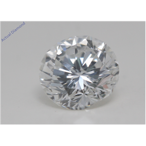 Round Cut Loose Diamond (0.66 Ct,F Color,SI1 Clarity) AIG Certified