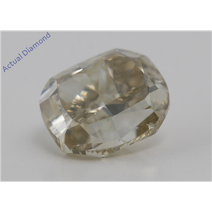 Cushion Cut Loose Diamond (3.01 Ct,Natural Fancy Light Brownish Yellow Color,VS2 Clarity) AIG Certified