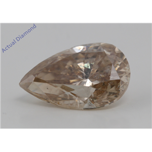 Pear Cut Loose Diamond (3.01 Ct,Natural Fancy Orangy Brown Color,SI1(Enhanced) Clarity) AIG Certified