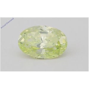 Oval Cut Loose Diamond (1.46 Ct,Fancy Vivid Yellowish Green(Irradiated) Color,VS1 Clarity) AIG Certified