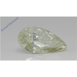 Pear Loose Diamond (3.1 Ct,Natural Fancy Light Yellowish Green Color,SI2(Enhanced,Drilled) Clarity) AIG