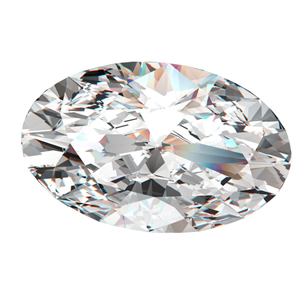 Oval Cut Loose Diamond (0.88 Ct, K, I1(Clarity Enhanced))