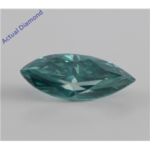 Marquise Cut Loose Diamond (1.38 Ct, Fancy Greenish Blue (Color Irradiated), VS2) IGL Certified