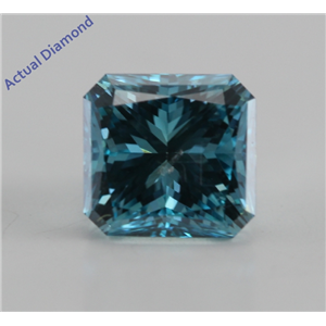Radiant Cut Loose Diamond (1.01 Ct, Fancy Ocean Blue (Color Irradiated), SI2 (Clarity Enhanced)) IGL Certified