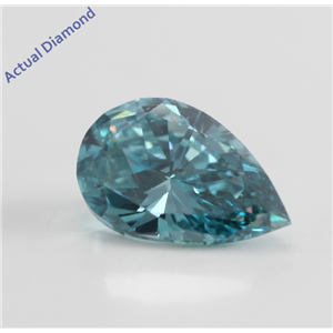 Pear Cut Loose Diamond (1.02 Ct, Blue (Color Irradiated), SI1 (Clarity Enhanced))