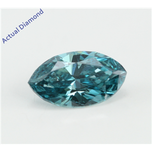 Marquise Cut Loose Diamond (0.95 Ct, Fancy Sky Blue(Color Irradiated) Color, VS2(Clarity Enhanced) Clarity) IGL Certified
