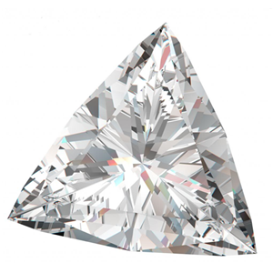 Triangle Cut Loose Diamond (0.44 Ct, G Color, I1(Clarity Enhanced,K.M.) Clarity)