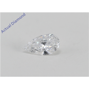Pear Cut Loose Diamond (0.26 Ct, D Color, SI1(K.M. Treated) Clarity) IGL Certified