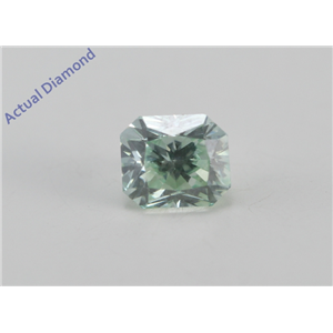 Radiant Cut Loose Diamond (0.82 Ct, Fancy Green (Color Irradiated) Color, VS2 (Clarity Enhanced) Clarity) IGL Certified