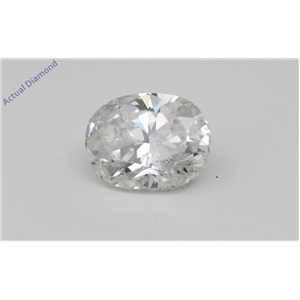 Oval Cut Loose Diamond (0.8 Ct, D Color, SI1(Clarity Enhanced) Clarity) IGL Certified