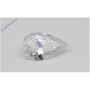 Pear Cut Loose Diamond (0.62 Ct, D Color, SI2(Laser Drilled) Clarity) IGL Certified