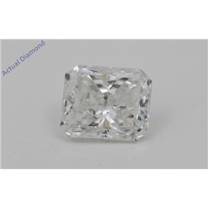 Radiant Cut Loose Diamond (0.65 Ct, E Color, VVS2(Clarity Enhanced) Clarity) IGL Certified