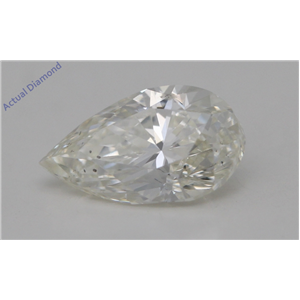 Pear Cut Loose Diamond (1 Ct,K Color,SI1 Clarity) GIA Certified