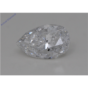 Pear Cut Loose Diamond (1.52 Ct,E Color,SI2 Clarity) GIA Certified