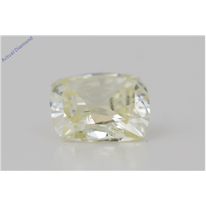 Cushion Cut Loose Diamond (1.09 Ct,Natural Fancy Light Yellow Color,Si2 Clarity) Gia Certified