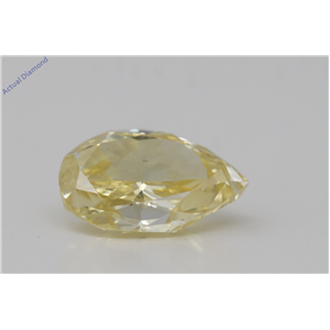 Pear Cut Loose Diamond (1.11 Ct,Natural Fancy Intense Yellow Color,Si1 Clarity) Gia Certified