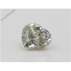 Heart Cut Loose Diamond (1.13 Ct,Natural Fancy Gray Yellowish Green Color,Si1 Clarity) Gia Certified