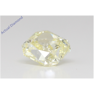 Cushion Cut Loose Diamond (1.04 Ct,Natural Fancy Yellow Color,Vvs2 Clarity) Gia Certified