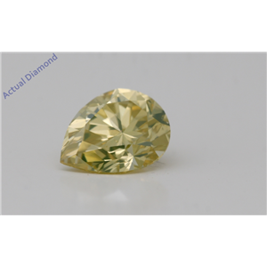 Pear Cut Loose Diamond (1.34 Ct,Natural Fancy Intense Yellow Color,Vs2 Clarity) Gia Certified