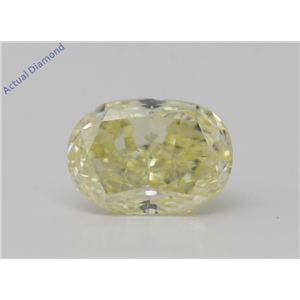 Oval Cut Loose Diamond (1.29 Ct,Natural Fancy Yellow Color,Vs2 Clarity) Gia Certified