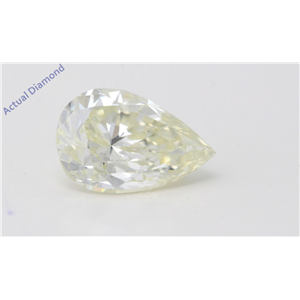 Pear Cut Loose Diamond (1.53 Ct,Natural Fancy Yellow Color,Si1 Clarity) Gia Certified